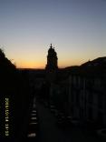 sunset over Convento e Igrexa de San Francisco